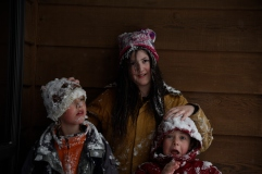 Snow covered kids!
