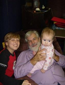 Grandpa, Cousin Jake and Lil Sis