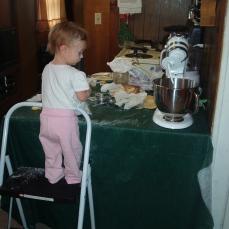 Helping Mama bake!
