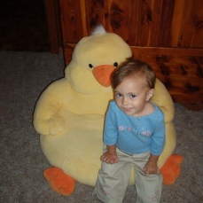 When I first got that ducky seat I was SO SCARED of it! XD