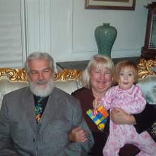 Me with Grandpa and Grandma