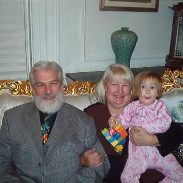 Me with Grandpa and Grandma