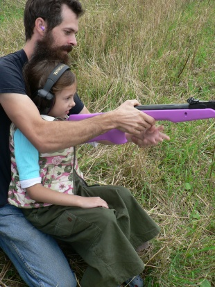 Me and Daddy shooting!