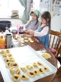 Making hamentachen for Purim!