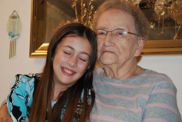 Me + Great-Grandma