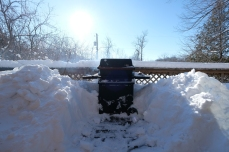 Our grill surrounded by snoooow!